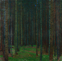 The pine forest I