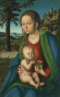 Мадонна с младенцем и виноградной гроздью