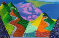 David Hockney. Pacific Coast Highway and Santa Monica