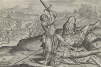 David beheads Goliath