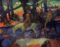 Paul Gauguin. The Ford. The Flight