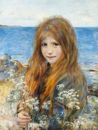 Ханс Хейердал. Маленькая девочка на пляже