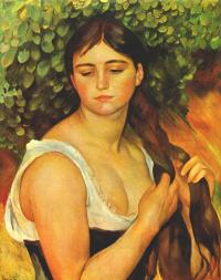 Девушка заплетающая волосы (Сюзанна Валадон)