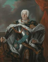 Сильвестр Луи де. Портрет короля Польского, курфюрста Саксонского и великого князя Литовского Августа III