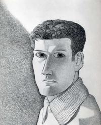 Люсьен Фрейд. Мужчина ночью (автопортрет)