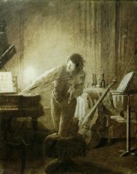 Иван Николаевич Крамской. Музыкант