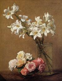 Анри Фантен-Латур. Розы и Лилии