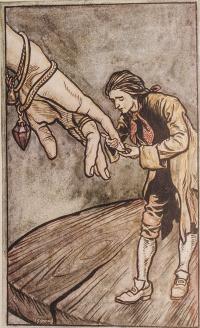 """Illustration for the novel """"Gulliver's Travels"""""""