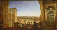 Рим со стороны Ватикана. Рафаэль пишет Форнарину для украшения лоджии