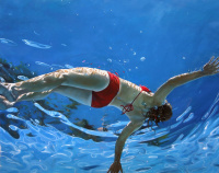 Эрик  Зенер. В бассейне