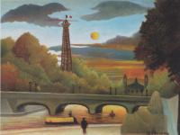 Сена и Эйфелева башня на вечернем солнце
