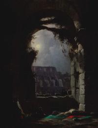 Вид Колизея в лунную ночь