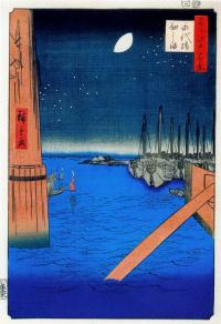 """Цукудаджима, мост Этай. Серия """"100 знаменитых видов Эдо"""""""