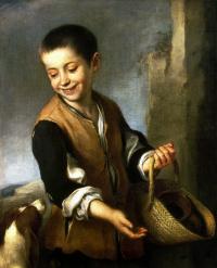 Бартоломе Эстебан Мурильо. Мальчик с собакой