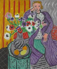 Анри Матисс. Пурпурный халат и анемоны