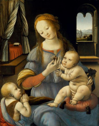 The virgin and child with Saint John