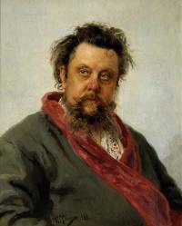 Portrait of the composer M. P. Mussorgsky