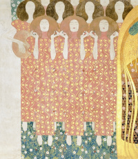 Густав Климт. Бетховен Фриз: Хор Рая (фрагмент)