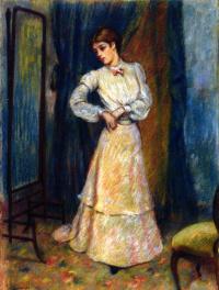 Федерико Дзандоменеги. Женщина, поправляющая юбку