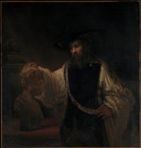 Aristotle contemplating the bust of Homer