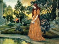 Евгений Грассе. Девушка в саду
