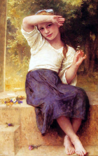Девочка с маргаритками