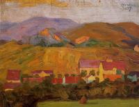 Эгон Шиле. Деревня в горах