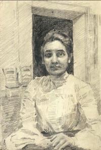 Женский портрет (Надзирательница отделения клиники Московского университета)