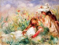 Пьер Огюст Ренуар. Девочки на траве
