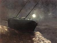 Лодка в лунном свете