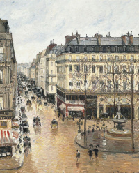 Камиль Писсарро. Улица Сен-Оноре днём. Эффект дождя