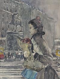 Юрий Иванович Пименов. Зимой в Москве