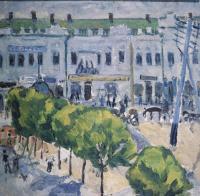 Михаил Федорович Ларионов. Площадь провинциального города. 1907-1908