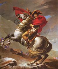 Napoleon at the pass Saint-Bernard