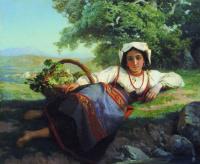 Василий Петрович Верещагин. Девушка с виноградом