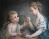 Жан-Этьен Лиотар. Дети, выдувающие мыльные пузыри