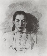 Василий Дмитриевич Поленов. Портрет Натальи Васильевны Якунчиковой, жены Поленова