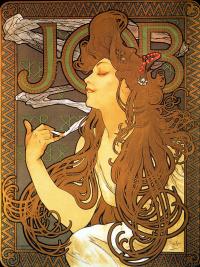 "Advertising poster for the tissue paper ""job"""