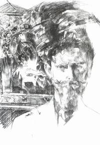 Portrait of psychiatrist Fiodor Usoltsev Arsenijevic (against icons)