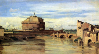 Castle of the Holy Angel and the Tiber in Rome