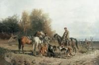 Рудольф Федорович Френц. Сбор на охоту. 1887