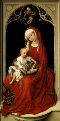 In the red Madonna (Madonna Duran)