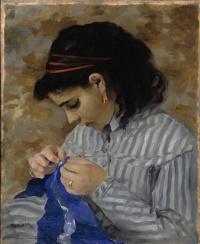 Лиза за шитьем