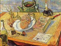 Винсент Ван Гог. Натюрморт с тарелкой и луковицами
