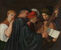 Тициан Вечеллио. Урок музыки (авторство не доказано)