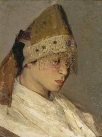 Девушка в кокошнике. Портрет М.И. Нестеровой