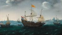 Хендрик Корнелис Вром. Флотилия в море