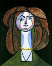 Пабло Пикассо. Девушка в желтом колье