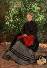 Женщина в саду