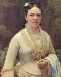 Портрет Веры Николаевны Третьяковой. Фрагмент